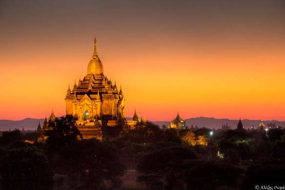Bagan Temples Sunset - 1920c
