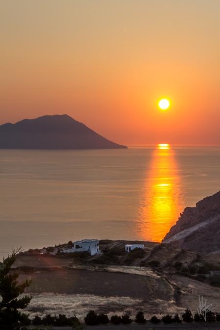 Milos Sunset - 1920c
